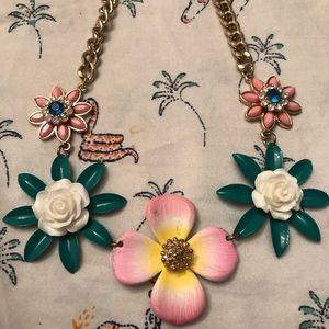 Floral tropical necklace
